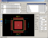 Screen-shot of the KiCad Librarian