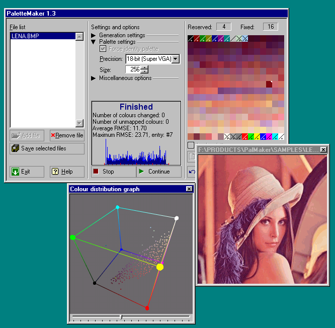 Click to view PaletteMaker 1.5 screenshot