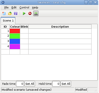 Twinkler software screenshot