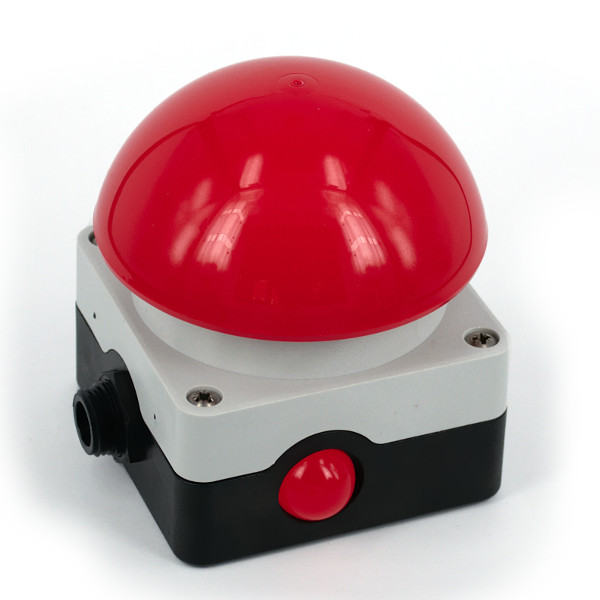 Bright 20 mm LED indicator with large viewing angle, e.g. for Quiz Buzzers