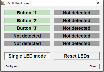<br/>Button Lights utility, to control an optional LED