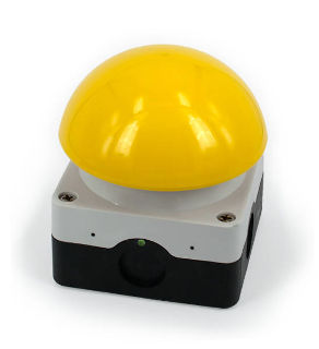 Yellow Dome Button