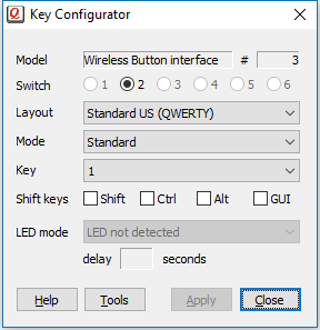 Key Configuration utility, available for Microsoft Windows